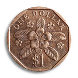 Доллар Сингапура, путь клиппирования. Стоковое Изображение