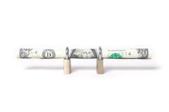 доллар счета обеспеченный Стоковые Фото