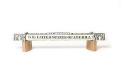 доллар счета обеспеченный Стоковое Изображение