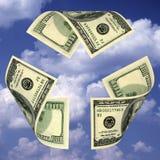 доллар счета рециркулирует знак Стоковые Изображения RF