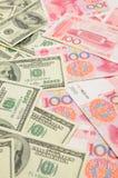 доллар фарфора мы против yuan Стоковая Фотография RF