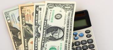 доллар чалькулятора Стоковые Изображения