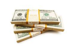 доллар штабелирует 10 тысяч Стоковая Фотография