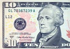 доллар 10 счета Стоковые Изображения RF