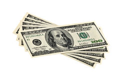доллар 100 кредиток Стоковое Фото