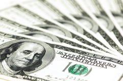 доллар 100 кредиток Стоковое Изображение