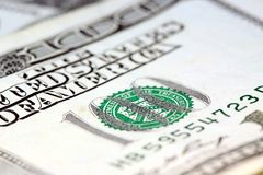 доллар 100 одно валюты счетов мы Стоковая Фотография
