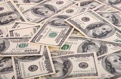 доллар 100 одно предпосылки Стоковые Фотографии RF