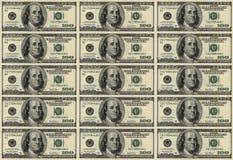 доллар 100 предпосылки Стоковая Фотография RF