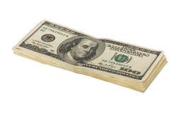 доллар 100 счетов штабелирует нас Стоковые Фотографии RF