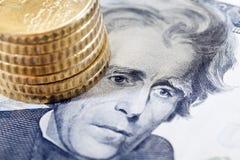 доллар 20 стоковая фотография