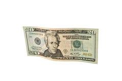 доллар 20 кредитки Стоковая Фотография RF