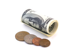 доллар 27 901 цента Стоковые Фото