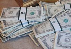 доллар 500 счетов Стоковое Изображение RF