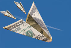 доллар plane4 стоковое фото rf