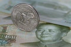 доллар yuan Стоковые Изображения RF