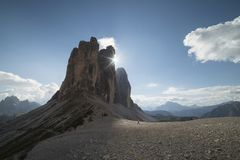 Доломиты TRE cime di lavaredo в Trentino стоковое фото rf
