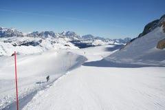 доломит italien наклон лыжи Стоковые Изображения RF
