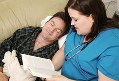 Домашнее здоровье - уснувшее стоковое фото rf
