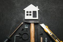 Домашнее обслуживание осмотра, реновация утечки стоковые изображения rf