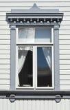 домашнее окно деревянное Стоковые Фото