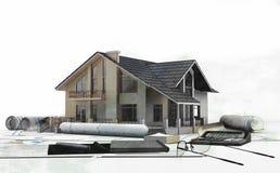 Домашнее приобретение - недвижимость иллюстрация штока