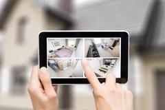 Домашнее vid дома сигнала тревоги системы монитора контроля cctv камеры умное Стоковые Изображения RF