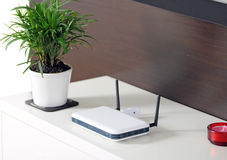 домашнее wifi стоковое изображение rf