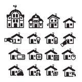 Домашние значки. Иллюстрация вектора Иллюстрация штока