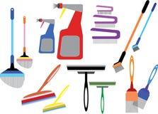 Домашние инструменты чистки стоковое фото rf