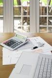 Домашние финансы и учет Стоковая Фотография RF