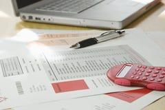Домашние финансы и учет Стоковая Фотография