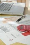Домашние финансы и учет Стоковое фото RF