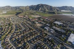 Домашний бизнес и фермы Camarillo Калифорнии воздушные стоковое фото