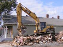Домашний будучи сокрушанным Конструкци-дом Стоковое Фото