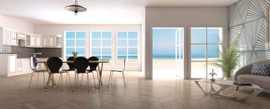 Домашний внутренний вид на море Стоковые Изображения