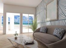 Домашний внутренний вид на море Стоковые Фотографии RF