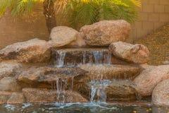 Домашний водопад бассейна Стоковые Изображения
