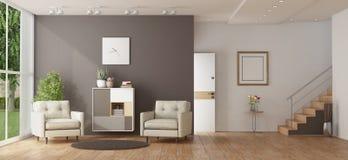 Домашний вход современной виллы бесплатная иллюстрация