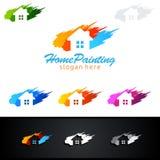 Домашний дизайн логотипа вектора картины Стоковая Фотография RF