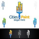 Домашний дизайн логотипа вектора картины Стоковое Фото