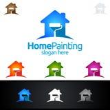 Домашний дизайн логотипа вектора картины Стоковые Изображения RF