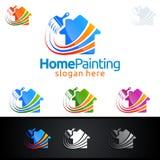 Домашний дизайн логотипа вектора картины Стоковое фото RF
