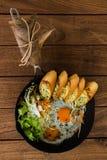 Домашний завтрак стиля стоковые изображения rf