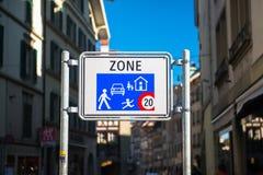 Домашний знак входа зоны Стоковые Изображения RF
