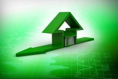 Домашний знак с домом Стоковое Изображение RF
