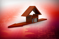 Домашний знак с домом Стоковое фото RF