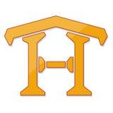 Домашний изолят дизайна логотипа на белой иллюстрации вектора предпосылки Стоковое Фото