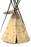 домашний индийский модельный красный шатер Стоковое Изображение RF