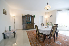 Домашний интерьер столовой Стоковое фото RF